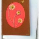 Carte avec des Fleurs séchées
