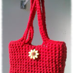 Sac à Main rouge au crochet