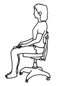 Etirements en position assise