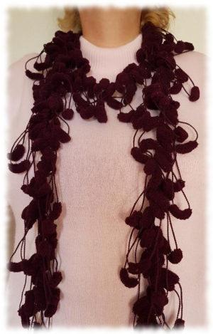Echarpe Laine Pompon au crochet
