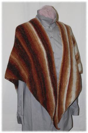 Châle marron avec rangs raccourcis